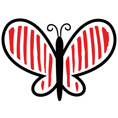 papillon rouge insecte pollinisateurs