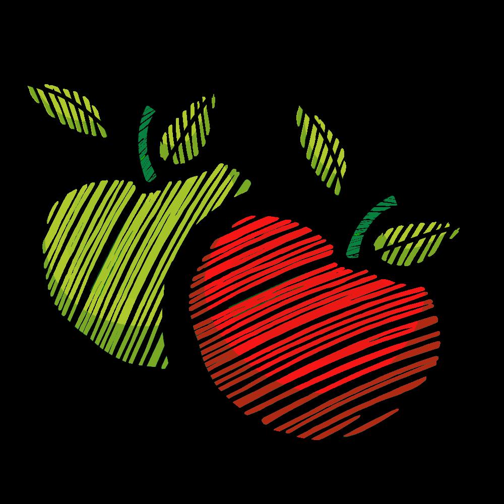 pommes rouge et vert sucré et acidulé