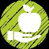 ramasser pomme sur pommiers du verger