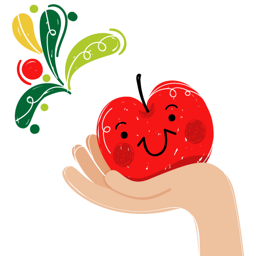 Logo pomme du verger d'apremont fruit vendée